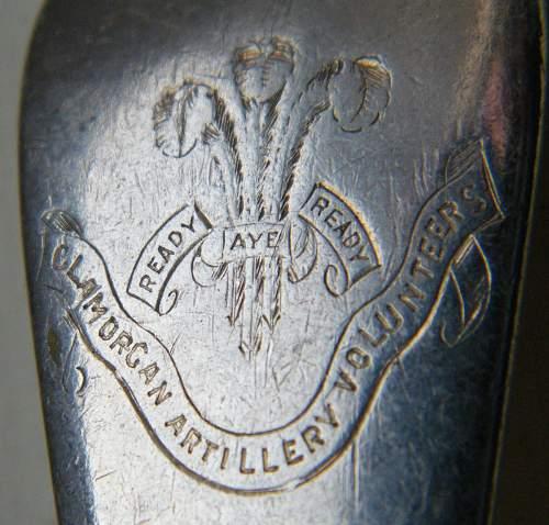 Click image for larger version.  Name:Glamorgan Artillery Volunteers mess spoon detail 1.jpg Views:30 Size:216.8 KB ID:715872