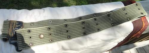US OD 7 Pistol Belt