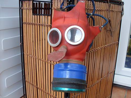 """Childs """"Mickey Mouse"""" Gas Mask."""