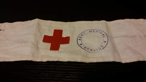 British Army Medical Service Armband
