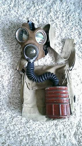 English Mk IV gas mask.