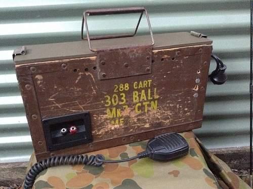 Modern radio kit in wood 303 ammobox