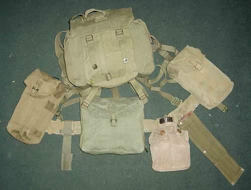 British 1944 pattern webbing equipment