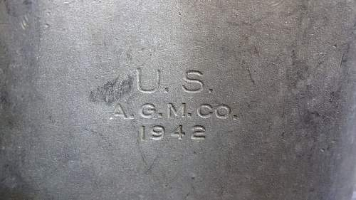 Weird stamps on US canteen