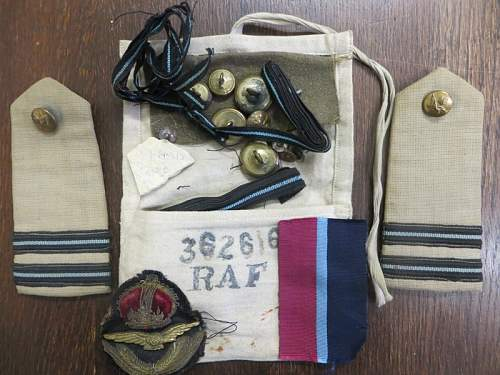 RAF Holdall and Housewife -Western Desert RAF Officer