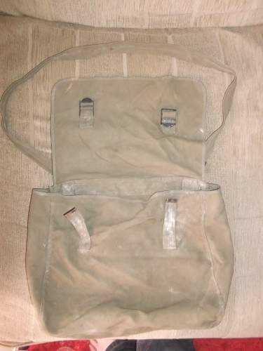 British issue 'musette' bag- 159ParaLghtRA 44th Indian Airborne 1944/5.