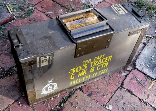Ammo box .303 Tracer. Latest purchase