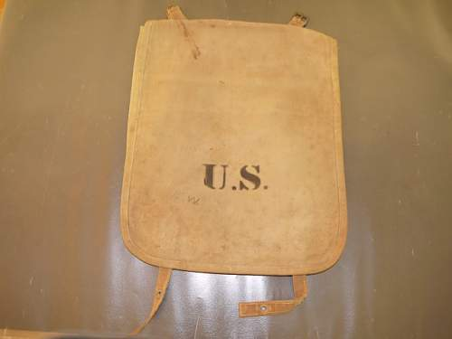 Help with ID'ing a US bag from WW1 Period - possible blanket bag. Watervliet Arsenal