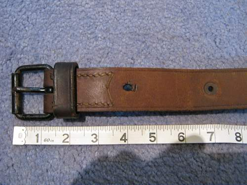 two leather straps and a sling, origins & purposes please? 1 Canadian?