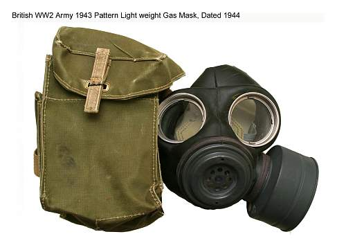 WW2 Gas Mask. 1941-44. Danish issue. British?