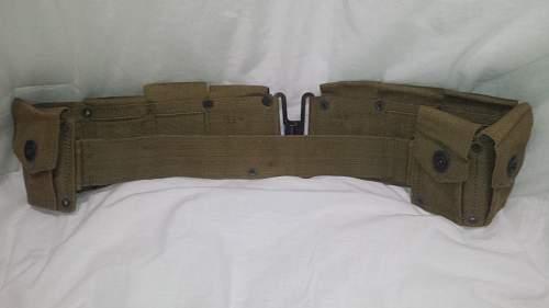 M1 Garand Ammo Belt. Strange front latch?