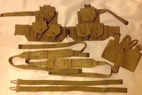 1940 Pattern Cavalry Webbing Shoulder Braces