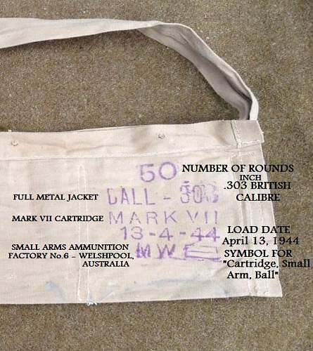 .303 Bandolier Markings
