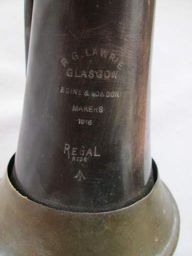 """..if only objects could talk... a repatriated 1916 """"captured """" army bugle"""