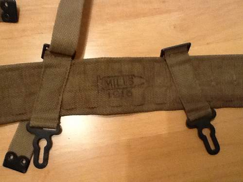 WWI Portuguese Webbing Straps Made By Mills Equipment Company