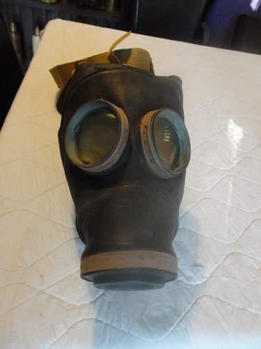 WW2 British dog ( yes, Dog) gas Mask