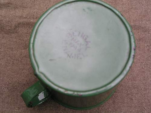 Indian Army Enamelled Plate