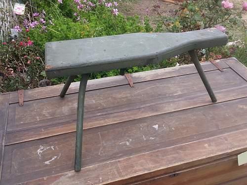 3-Legged folding stool.