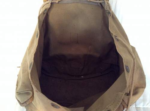 French backpack pre WW2? Vet bring back.