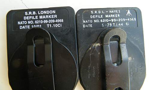 Army defile markers
