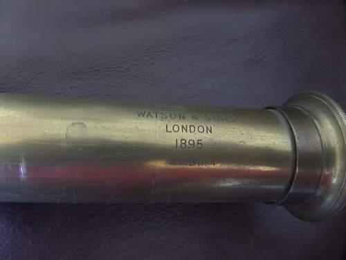 British army 1895 dated Telescope