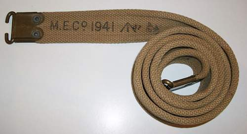 Click image for larger version.  Name:Rifle Sling - M.E.Co 1941 (Small).JPG Views:16 Size:141.6 KB ID:872737