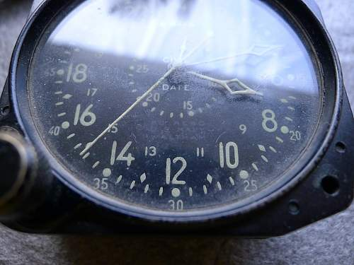 Beautiful BU. Aero US. Navy Waltham 8 day clock, what is it out of?