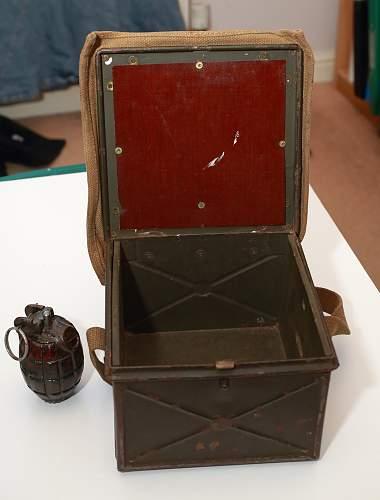 British signal lamp box