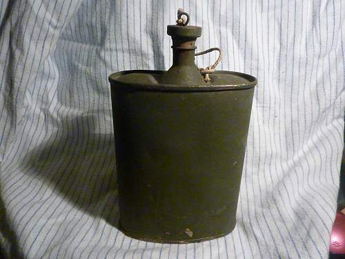 Water Bottle Indian made 1943