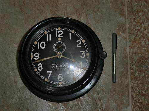 US Navy mark 1 deck clock dated 1941