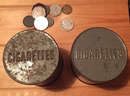 British cigarette ration tins + extras