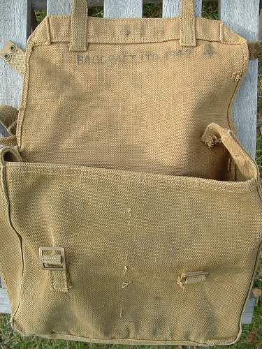 M37 Haversack and converted US Shovel Carrier