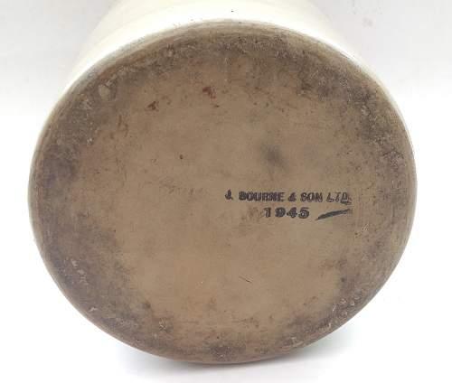 Click image for larger version.  Name:SRD Rum ration stoneware jar makers markings.jpg Views:64 Size:171.9 KB ID:947692