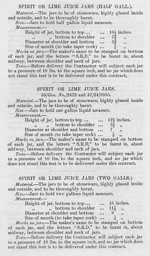 SRD Rum Ration jar 1945 dated