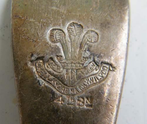 Click image for larger version.  Name:regimental spoons 4th bn welsh regiment.jpg Views:7 Size:254.3 KB ID:973339