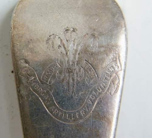 Click image for larger version.  Name:regimental spoons glamorgan artillery volunteers.jpg Views:8 Size:269.5 KB ID:973341