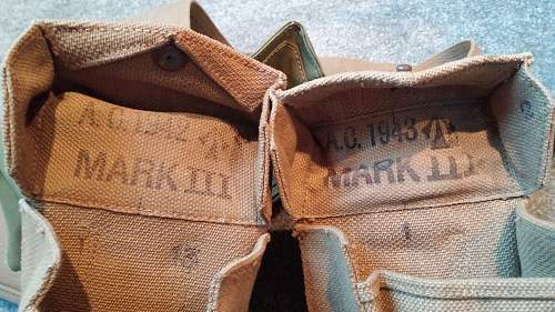 Late War Pattern 1937 Webbing Set in Pictures