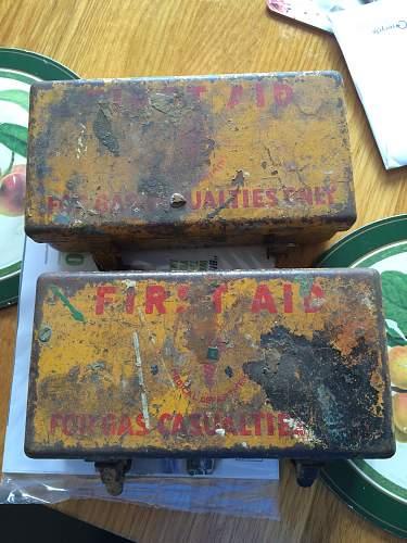 WW2 US Medical First Aid Tins x 2