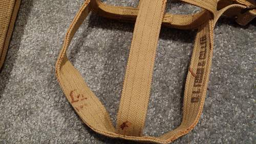 Union of South Africa Pattern 1937 Webbing Set in Pictures