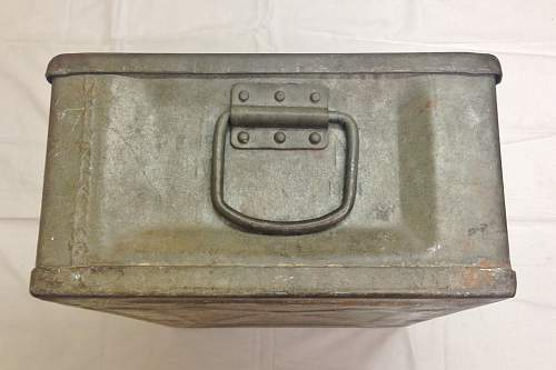 Unknown British metal container, possibly  for Food