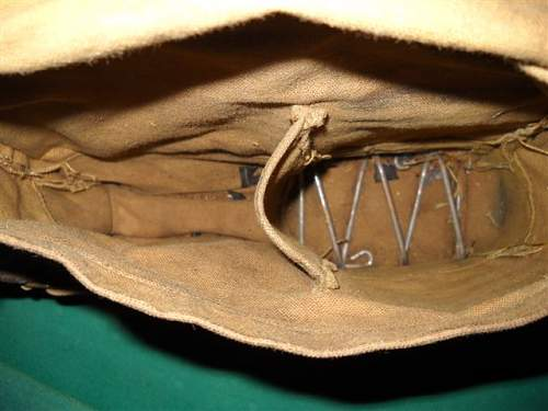 U.S. Army issue, WWI gas mask and satchel bag