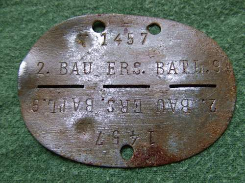 Erkennungsmarken, San, BAU, JEB, all from eastern front.