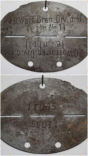 How about this Estonian SS dog tag ?