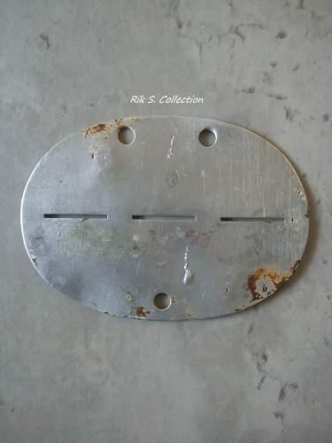 Erkennungsmarke Festungs Flak Abteilung 33