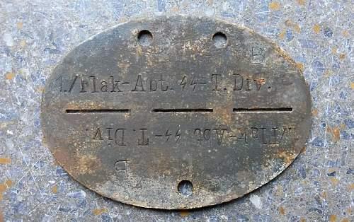 1./Flak-Abt.SS-T.Div. Erkennungsmarke
