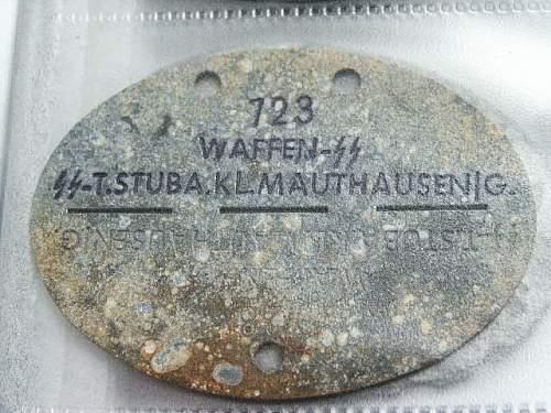 AUSCHWITZ SS id tag