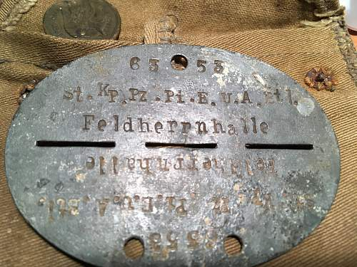"""Two """"Felherrnhalle"""" Disks and an unusual pouch"""