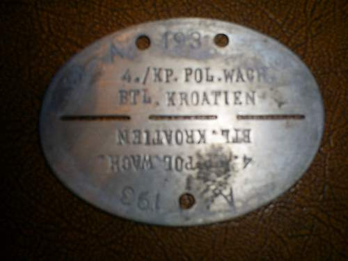 German/Croatian ID disc - fake?