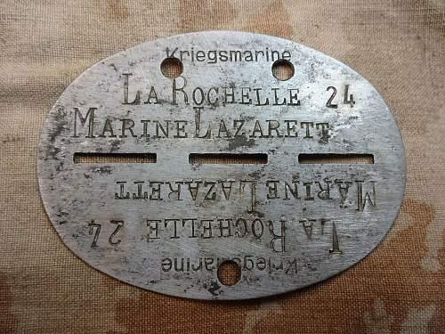Erkennungsmarke Kriegsmarine La Rochelle