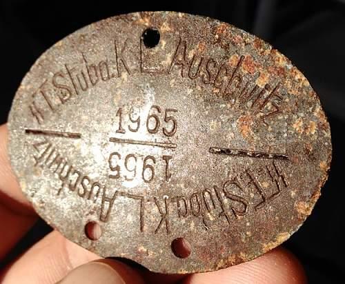 Ground Dug SS dog tag - Original?